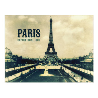 Carte Postale Tour Eiffel vintage, Paris, 1889