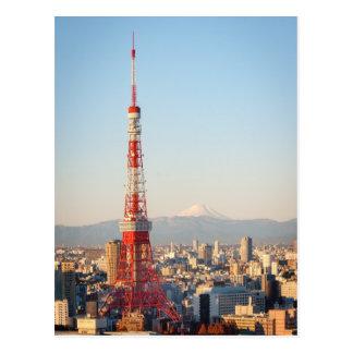 Carte Postale Tour et Fujisan de Tokyo