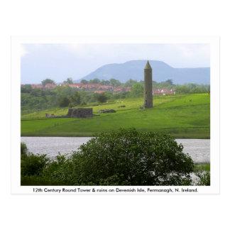 Carte Postale Tour monastique et ruines, île de Devenish