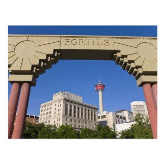 Carte Postale Tour olympique de plaza et de Calgary, Alberta,