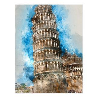 Carte Postale Tour penchée de Pise en Italie