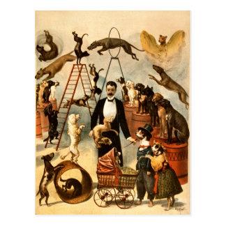Carte Postale Tour qualifié vintage Dogs1899 d'acte de chien de