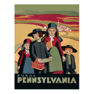 Carte Postale Tourisme rural amish vintage de voyage de la