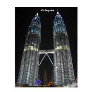 Carte Postale Tours de Petronas la nuit