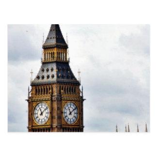 Carte Postale Tours et Abbaye de Westminster d'horloge de Big