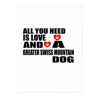 Carte Postale Tous vous avez besoin de PLUS GRANDS chiens