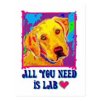 Carte Postale Tout le besoin d'U est laboratoire