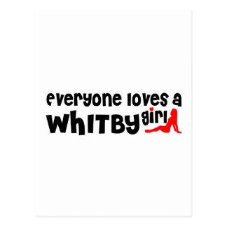 Carte Postale Tout le monde aime une fille de Whitby