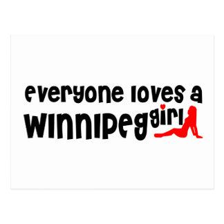 Carte Postale Tout le monde aime une fille de Winnipeg