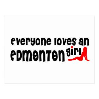 Carte Postale Tout le monde aime une fille d'Edmonton