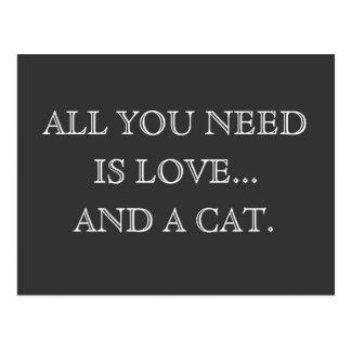 Carte Postale Tout que vous avez besoin est amour… et un chien -