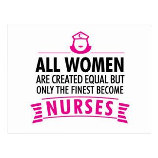 Carte Postale Toutes les femmes sont égal créé - infirmière