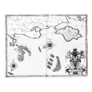 Carte Postale Tracez No.6 montrant l'itinéraire de la flotte