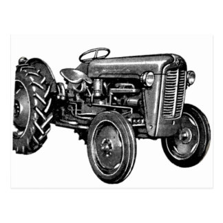 Carte Postale Tracteur vintage
