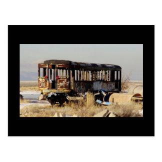 Carte Postale Train abandonné