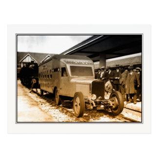 Carte Postale train-autobus ferroviaire de Français de curiosité