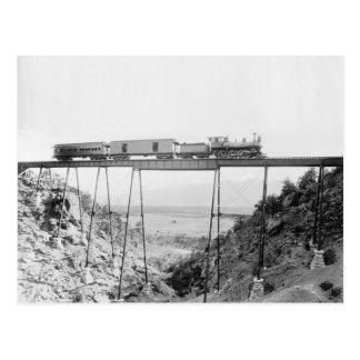 Carte Postale Train croisant le haut pont, 1890