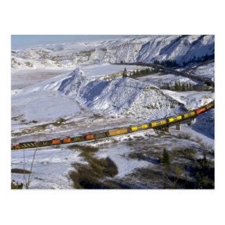 Carte Postale Train de grain, hiver d'Alberta, Canada