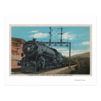 Carte Postale Train Pacifique des syndicats, canyon d'écho,