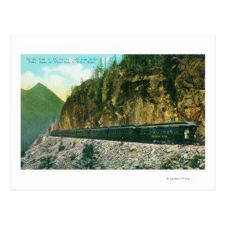 Carte Postale Traînée au nord de point rocheux, de passage blanc