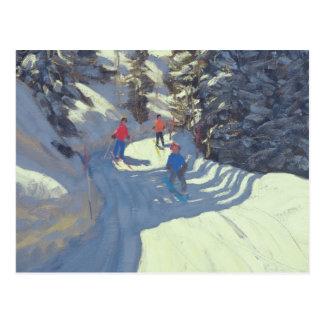 Carte Postale Traînée Lofer 2004 de ski