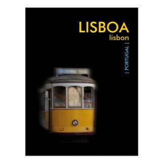 Carte Postale Tram jaune de Lisbonne - LISBONNE