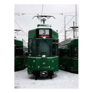 Carte Postale Trams suisses au dépôt de BVB M-Parc, Bâle