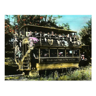 Carte Postale Tramway d'Oakland la Californie double Decker