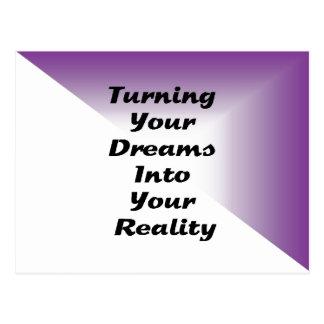 Carte Postale Transformation de vos rêves en votre réalité