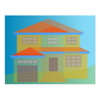 Carte Postale Transparent house vector drawing