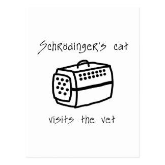 Carte Postale Transporteur de chat de Schrodingers