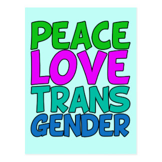 Carte Postale Transsexuel d'amour de paix