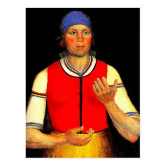 Carte Postale Travailleur de Kazimir Malevich-