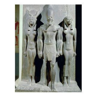 Carte Postale Triade de Menkaure avec la déesse Hathor