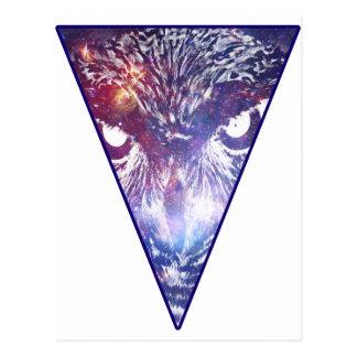 Carte Postale Triangle cosmique de hibou