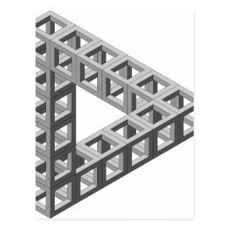 Carte Postale Triangle impossible d'illusion optique