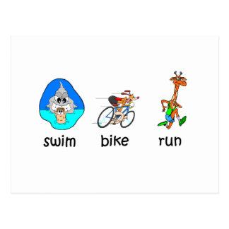 Carte Postale Triathlon drôle