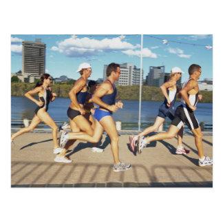 Carte Postale Triathloners courant 2