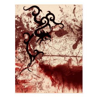 Carte Postale Tribal délabré gothique