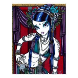Carte postale tribale de danseuse du ventre de fus