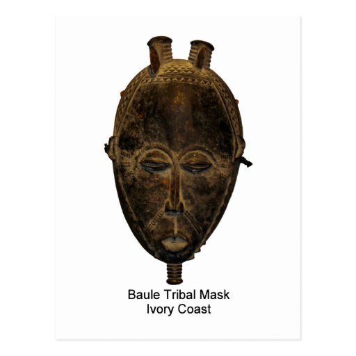 Carte postale tribale de masque de Baule