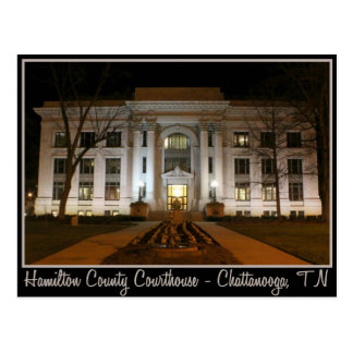 Carte Postale Tribunal du comté de Hamilton - Chattanooga, TN