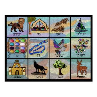 Carte Postale Tribus de l'Israël