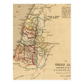 Carte Postale Tribus d'en 12 de partagee de Terre Sainte de La