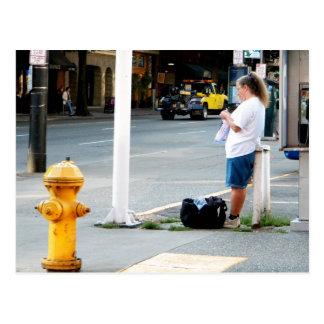 Carte Postale Tricoteuse de rue