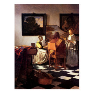 Carte Postale Trio musical par Johannes Vermeer