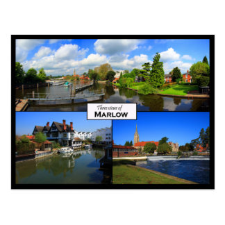 Carte postale triple de vue de Marlow,