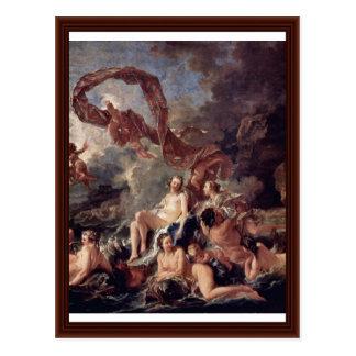 Carte Postale Triumph de petit groupe de Vénus par Boucher