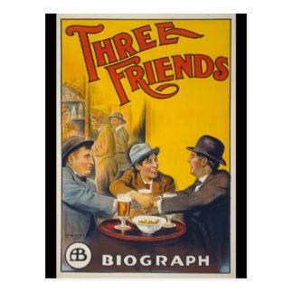 Carte Postale Trois amis