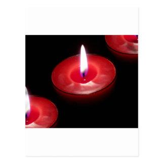 Carte Postale Trois bougies rouges